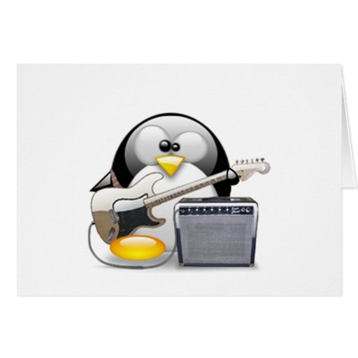 Classic American Guitar and Amplifier Tux Greeting Card