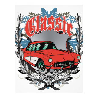 Classic American Muscle Car 21.5 Cm X 28 Cm Flyer