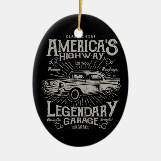 Classic American Muscle Car | Hotrod's Highway Christmas Ornament