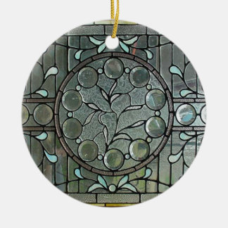 CLASSIC AMERICAN STAINED GLASS DESIGN CHRISTMAS ORNAMENT