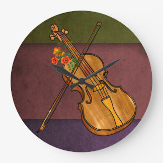 Classic and Beautiful Violin Music Large Clock