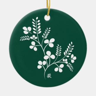 Classic and Chic Japanese Flower Series - Hagi Christmas Tree Ornament