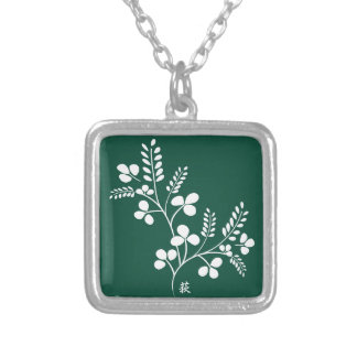 Classic and Chic Japanese Flower Series - Hagi Personalized Necklace