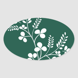Classic and Chic Japanese Flower Series - Hagi Oval Sticker