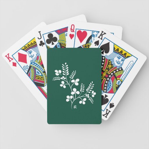 Classic and Chic Japanese Flower Series - Hagi Bicycle Poker Deck