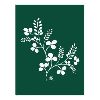 Classic and Chic Japanese Flower Series - Hagi Postcard