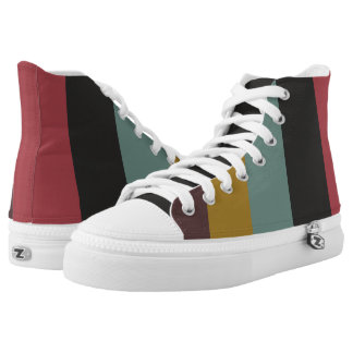 Classic and retro stripes printed shoes