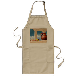 Classic antique still-life with a pitcher long apron