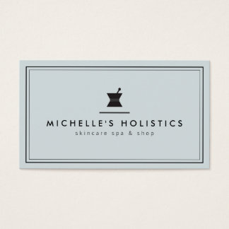 Classic Apothecary Holistic Medicine Pale Blue Business Card
