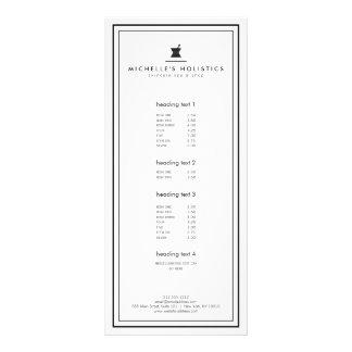 Classic Apothecary Holistic Medicine White Custom Rack Cards