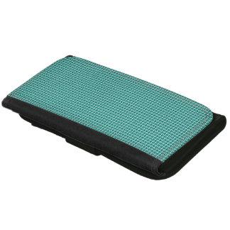Classic-Aqua-Deep-Plaid-Wallet's-Multi-Styles Leather Wallets