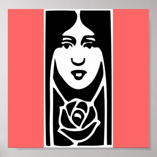 Classic Art Deco Woman Poster