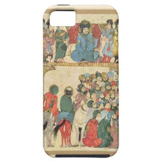 Classic Asian antique panel Tough iPhone 5 Case