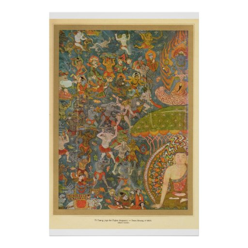 Classic Asian Art Hindu scene Poster
