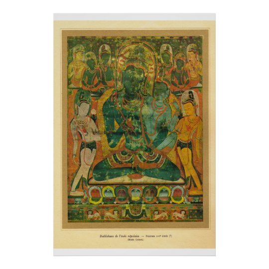 Classic Asian Art nepal, Bodisatva 17th century Poster