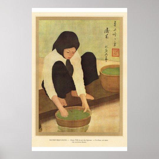 Classic Asian Art Vietnamese girl Poster