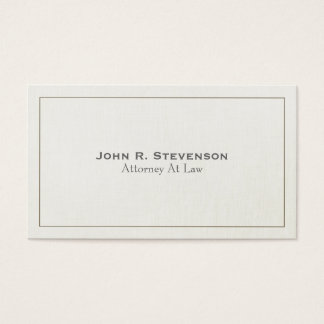 Classic Attorney Soft Linen Look 2 Business Card