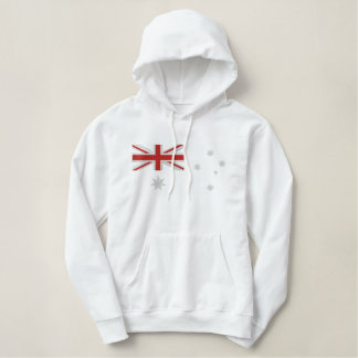 Classic Australian Flag Embroidery Embroidered Hoodie