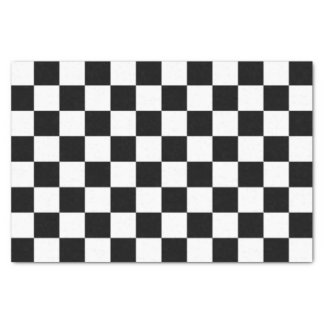 Classic Auto Racing Plaid Chequered Checkered Flag Tissue Paper