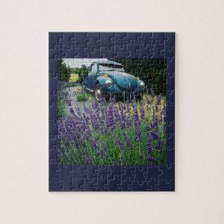 Classic Automobile & Lavender Jigsaw Puzzle