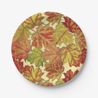 Classic Autumn Leaves Paper Plate