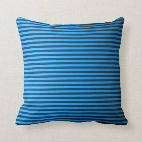 Classic Baby Blue Pinstripe Plush Throw Pillow