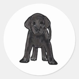 classic badge (Black labrador) Classic Round Sticker