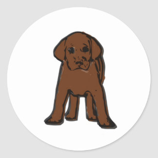 Classic badge (brown labrador) classic round sticker