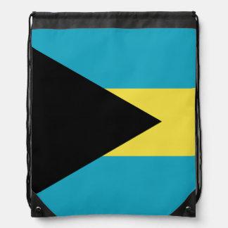 Classic Bahamian Flag Drawstring Bag