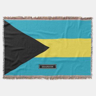 Classic Bahamian Flag Throw Blanket