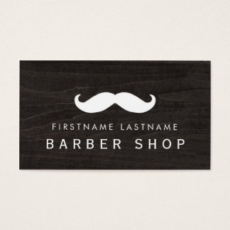 Classic Barber Moustache Business Card