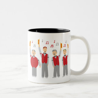 Classic Barbershop Quartet Two-Tone Coffee Mug