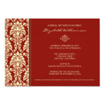 Classic Baroque Bridal Shower Invitation (crimson)