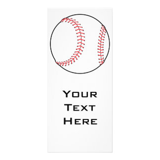 classic baseball design 10 cm x 23 cm rack card