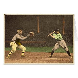 Classic Baseball Greetings Greeting Card
