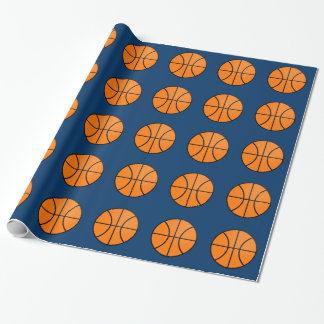 Classic Basketballs Sports Birthday Wrapping Paper