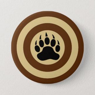 Classic Bear Paw in Super Hero Shield 7.5 Cm Round Badge