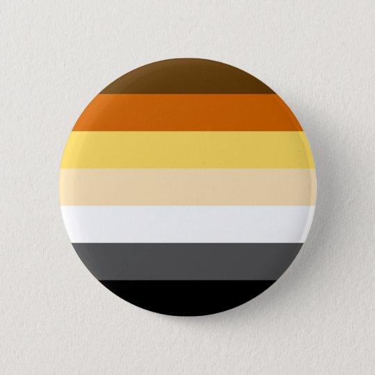 Classic Bear Pride Flag 6 Cm Round Badge