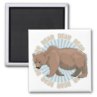 Classic Bear Square Magnet
