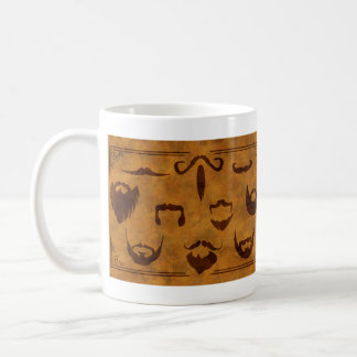 Classic Beards and Mustaches - Double side print Basic White Mug