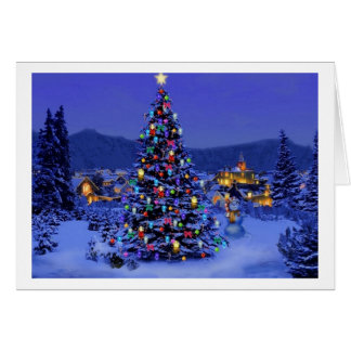Classic, beautiful vintage Christmas picture Greeting Card