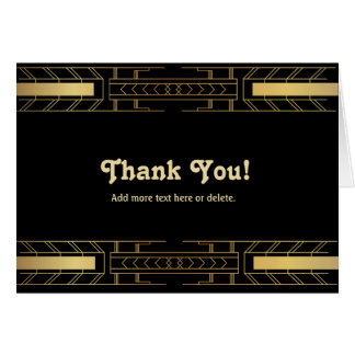 Classic Beauty Art Deco - Thank You Card