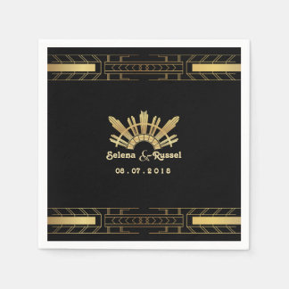 Classic Beauty Art Deco Wedding Napkins Paper Napkin