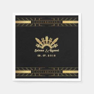 Classic Beauty Art Deco Wedding Napkins Paper Napkin