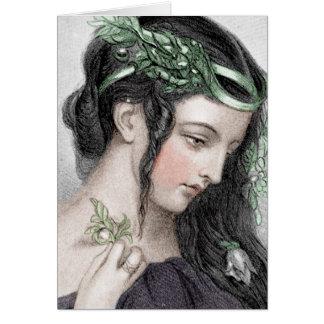 Classic Beauty With Leafy Headband Card