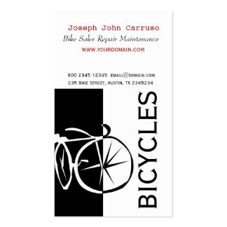 Classic Bike Modern Design Black White Artistic Pack Of Standard Business Cards