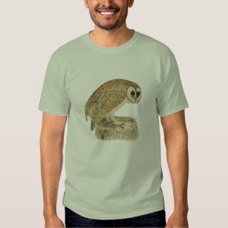 Classic Bird Etching - Owl Shirts