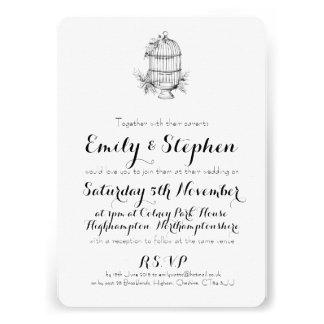 Classic Birdcage Personalised Wedding Invitation