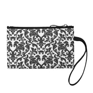 Classic Black and White Coin Purse