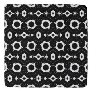 Classic black and white design trivet